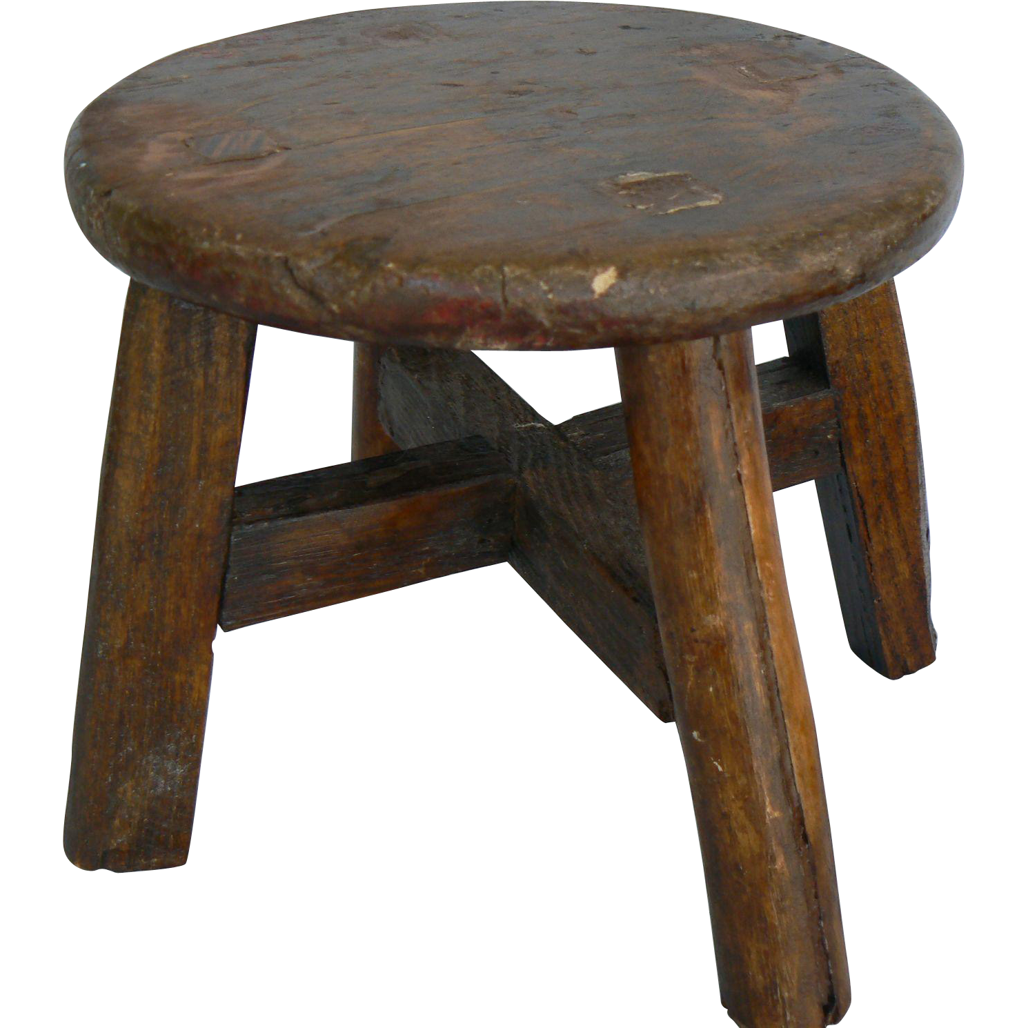 OLD vinatge doll toy stool all wood and old and cute.