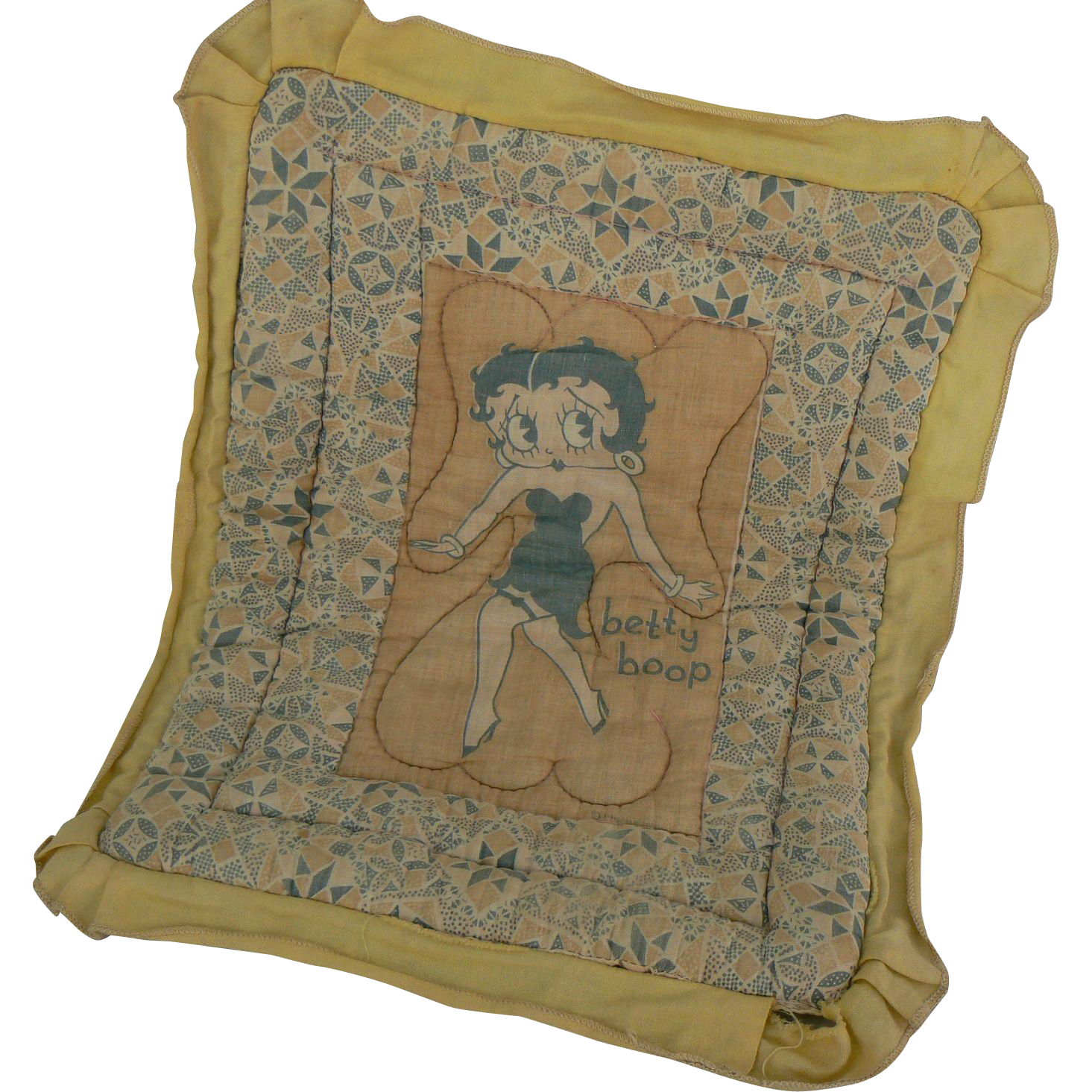 1920's Betty Boop Doll Blanket very hard to find and CUTE Must see.