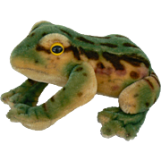 Great vintage Steiff Frog very nice color and vinatge
