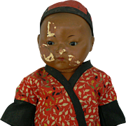 Oriental A.M. # 353 12 inches tall and all original Painted Bisque Head compo body Parts or fixer upper.