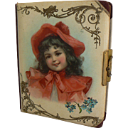 Early Victorian Photo Album with Little Girl on celluloid cover great for photos of your dolls.