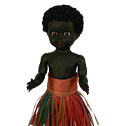 Black Native Ginny Type doll all original and Made in England cute 1950's.