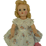 Ideal Toni Doll P-93 all Original, tagged dress and wrist tag with curlers.
