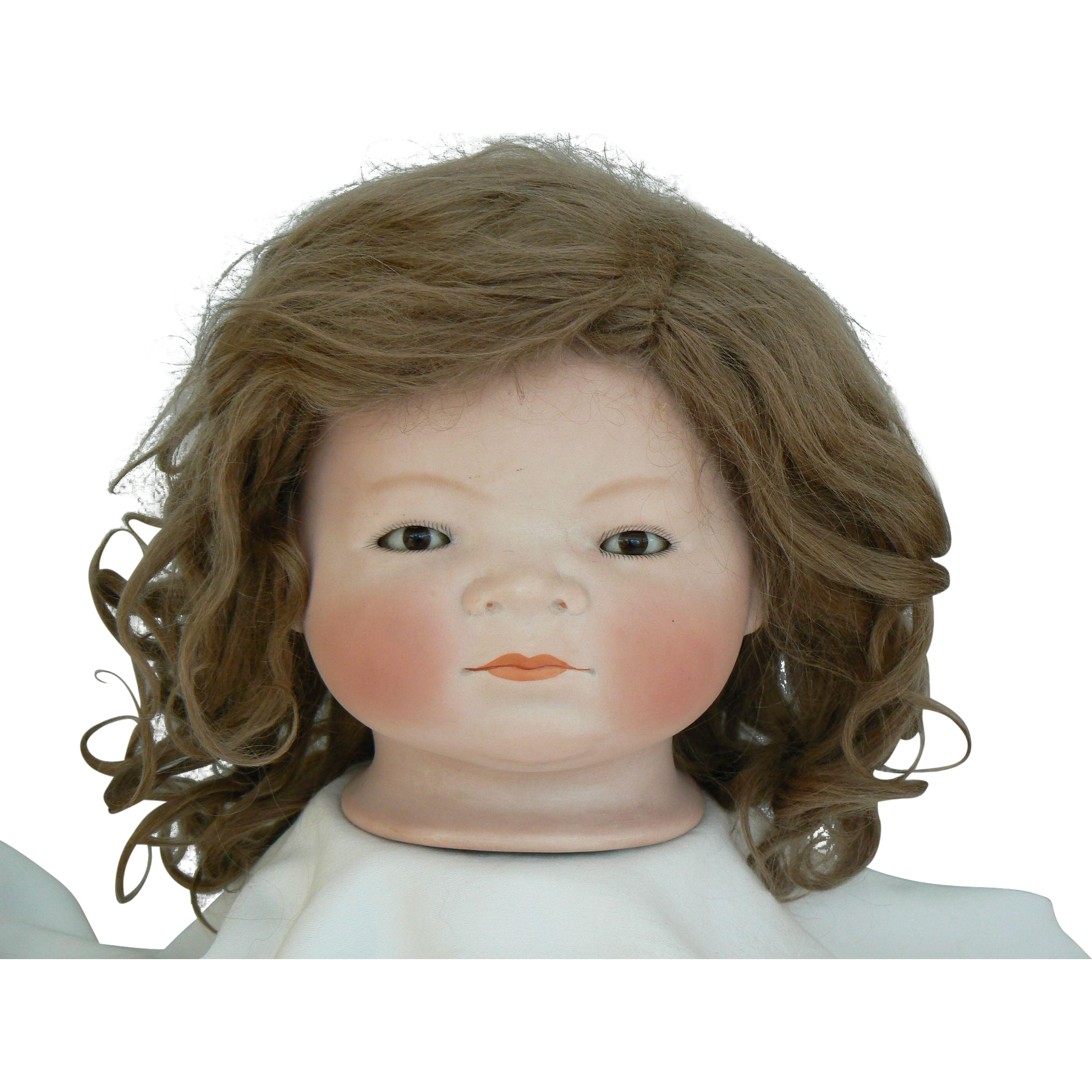 BIG antique doll wig mohair size 19 to 20 inch circumference OLD