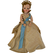 1950's Madame Alexander Cissy Queen Doll all Original and never played with.