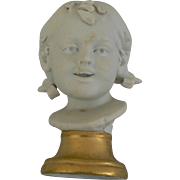 Great OLD Bust of Girl for your doll or dollhouse sweet.
