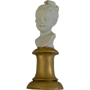 Darling Girl Bust for your dolls or dollhouse, OLD