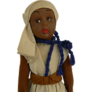 Black Island lenci type cloth doll all original 1940's.