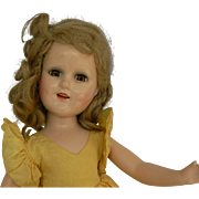 Madame Alexander 18 inch Sonja Henie Composition doll with original tagged outfit 1940's.