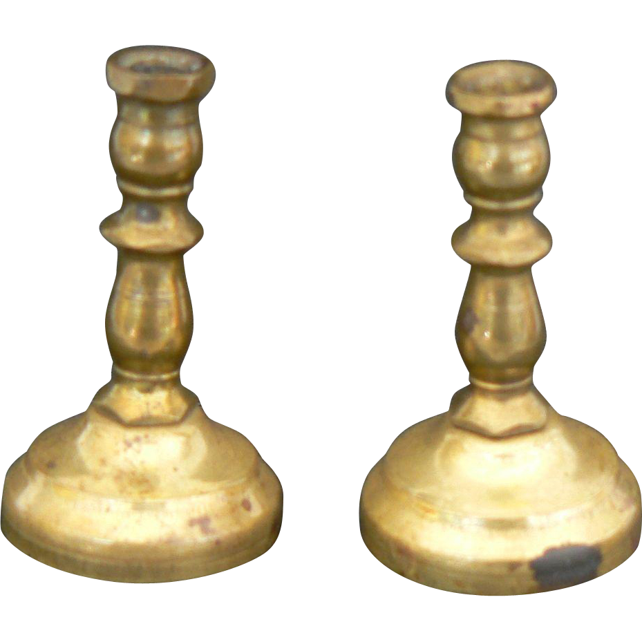Vintage Doll size candlesticks great for a dollhouse or doll to use.