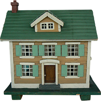 Vintage 20's 30's Wood Dollhouse hand made and Wonderful great for your doll