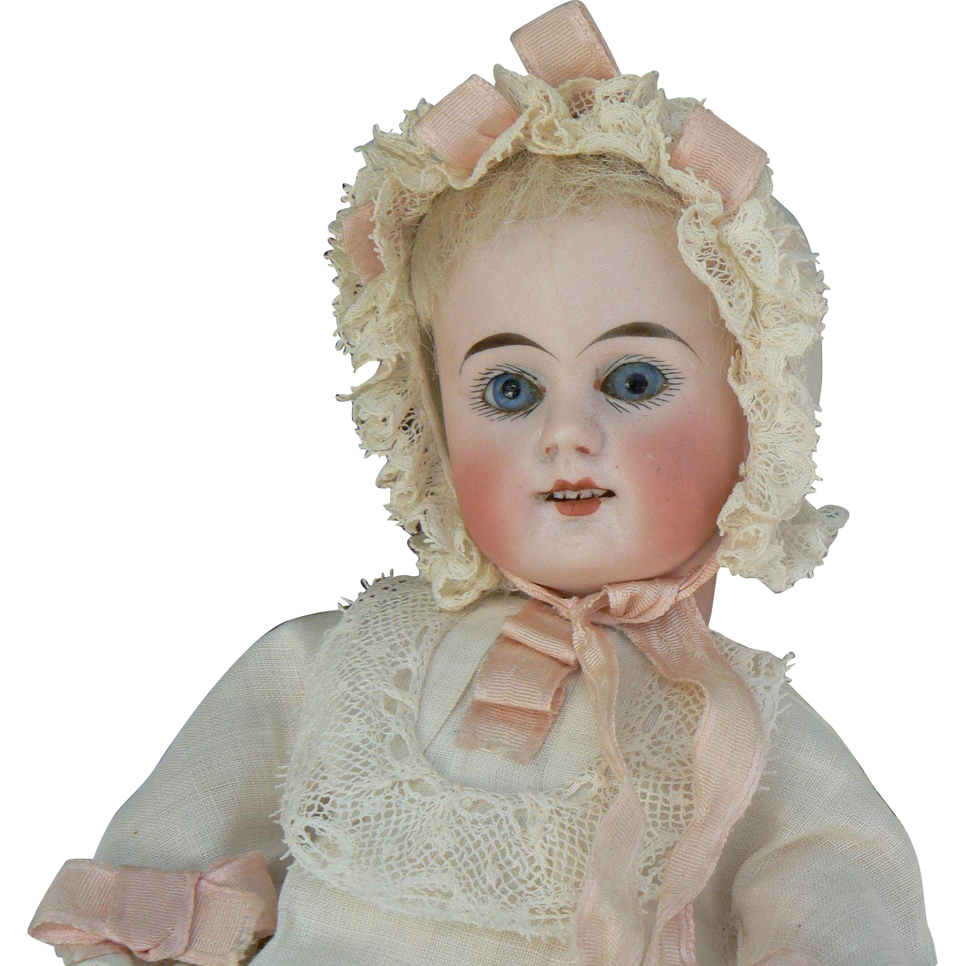 Great German Bisque Head doll compo body and great outfit Must see !!!