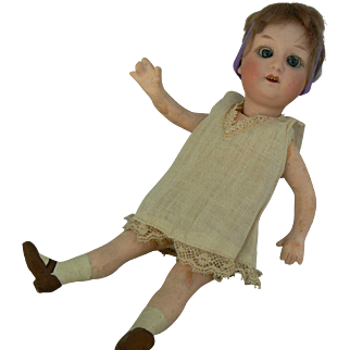 Gebruder Heubach 8192 bisque head doll compo body all original and sweet, 8 1/2 inches tall.