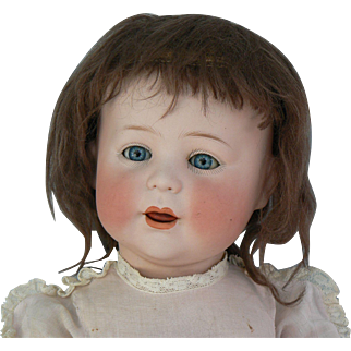 Sweet Jutta 1914 Bisque head doll Side hip Toddler Body 23 1/2 inches tall.