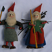 Vintage Ethnic Folk Doll Pair OLD Original sweet.