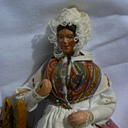 Santons Folk art doll all original and signed and tagged.