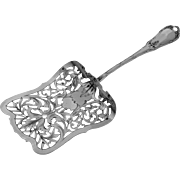 Coignet French All Sterling Silver Asparagus Pastry Server Louis XVI Pattern
