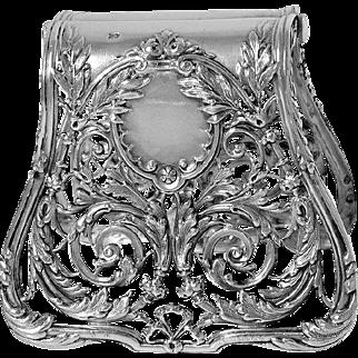 Christofle-Debain Gorgeous French Silver Asparagus/Sandwich Grip Rococo Pattern