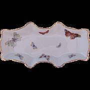 Limoges Castel Butterfly Tray Celery Dish
