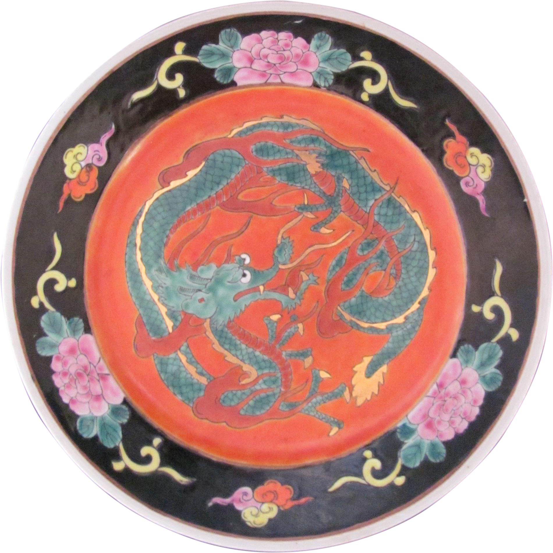 Vintage Japanese Chinese Large Dragon Plate