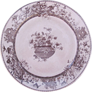Royal Doulton Elaine Brown Transferware 8.5 Inch Dinner or Cabinet Plate c.1887