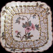 LIMOGES Antique Square Dish Bowl T&V Tressemann & Vogt c.1890's