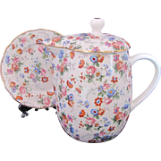 Cheery Chintz 36 Ounce Pitcher Lid & Under Plate 6560/6 Erphila Dorset c.1930's