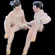 Ceramic Arts Studio Shelf Sitters Ballet Dancers c.1950's