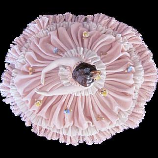 Dresden Porcelain Lace Figure Figurine Full Skirt c.1955 Franz Witter