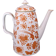 Mottahedeh Coffee Pot Sacred Bird and Butterfly Historic Charleston HC 160 Rare