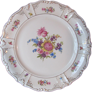Winterling Dresden Plate Charger Feather Cartouches Bavaria Germany