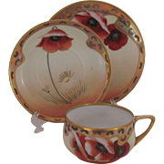 Poppy & Daisy Cup Saucer Plate by Osborne Art Studio Chicago
