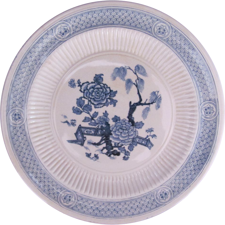 Aesthetic Movement Ridgways Hanover Blue Plate Royal Semi-Porcelain Rd.No.