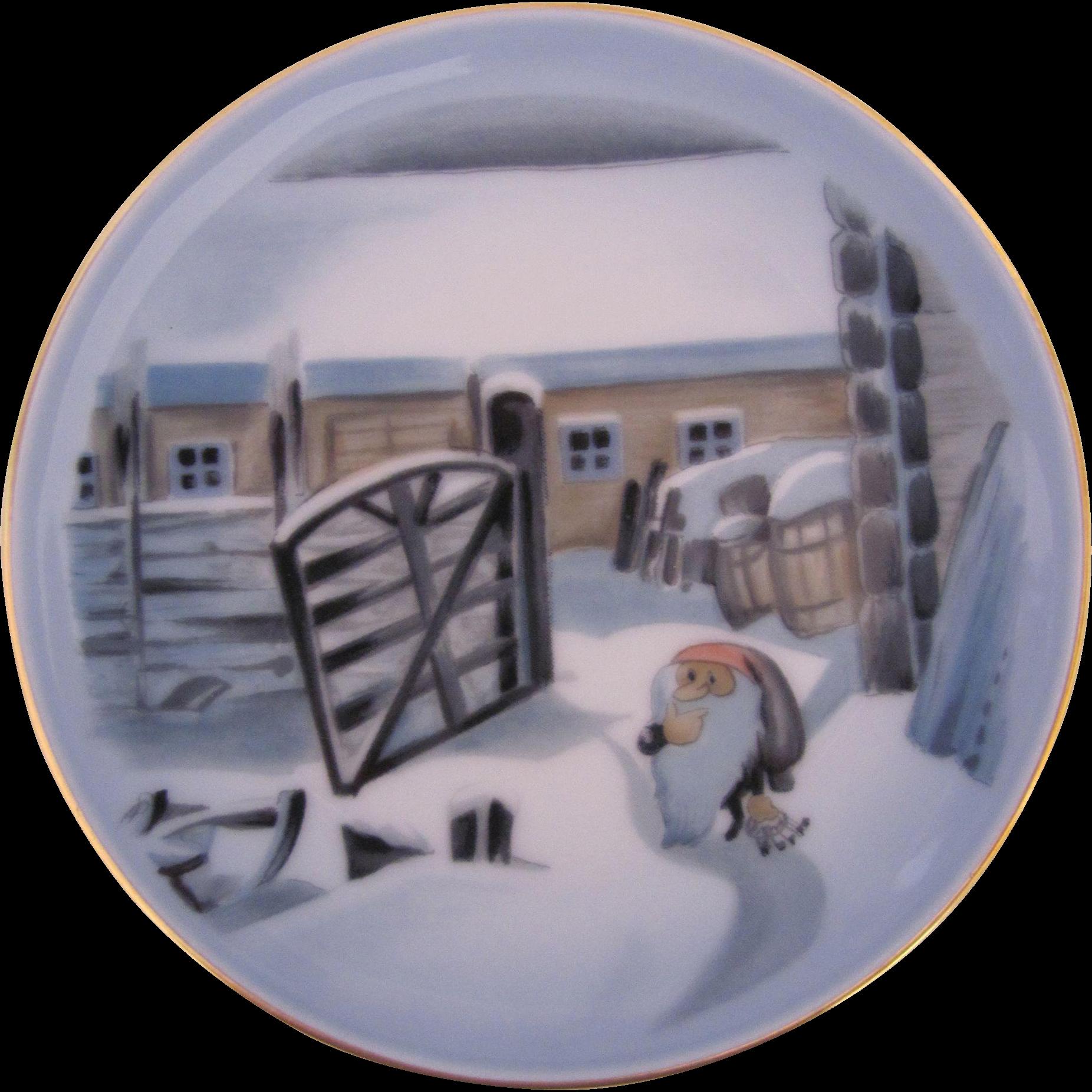 Bing & Grondahl Copenhagen Gnome Tomte Miniature Plate Originaltegning 3504/5709