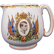 RARE King Edward VIII Coronation Souvenir Pitcher Jug CWS Longton c.1936-1937