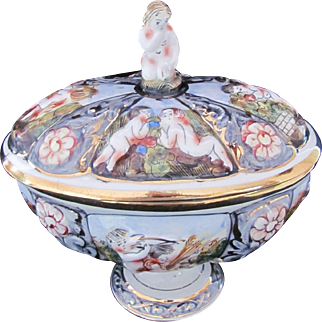 Capodimonte Covered Pedestal Bowl or Dish