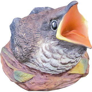 Boehm Figurine Baby Cuckoo Bird Fledgling Made in England