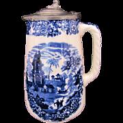 Wedgwood Chinese Syrup Pitcher Etruria England Antique c.1860