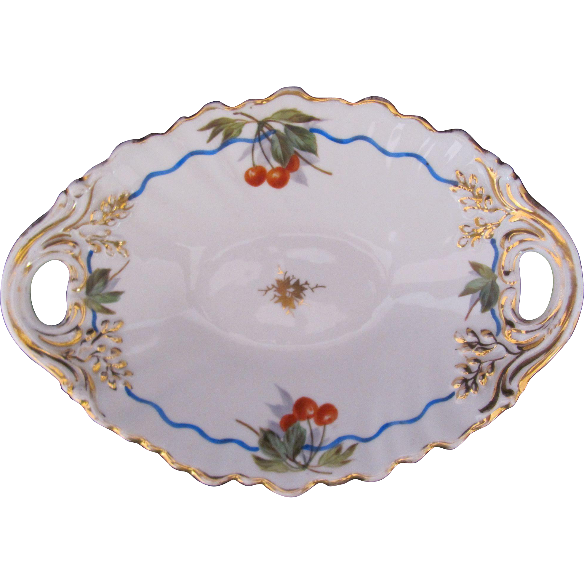 Antique KPM Oval Dish Bowl c.1840-1895