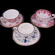 Spode Copelands Toy or Miniature Cup Saucer Fleur de Lys Pattern