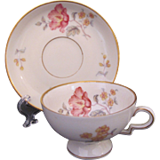 Haviland Demitasse Footed Cup and Saucer Set Germany Early 20th Century