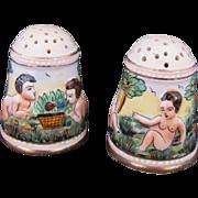 Capodimonte Salt Pepper Shakers