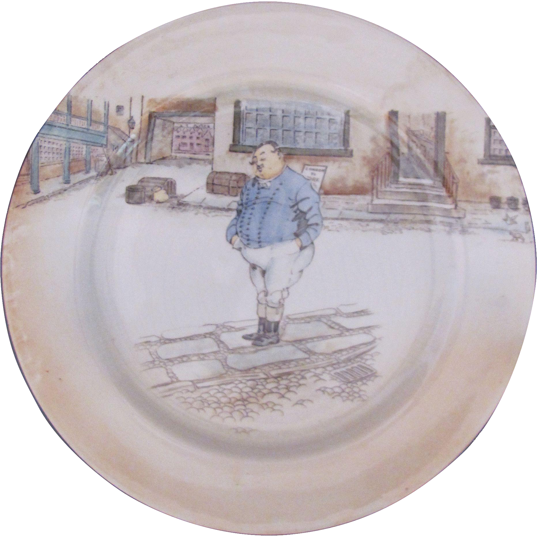 Antique Royal Doulton Dickens Ware Charger Dinner Plate The Fat Boy