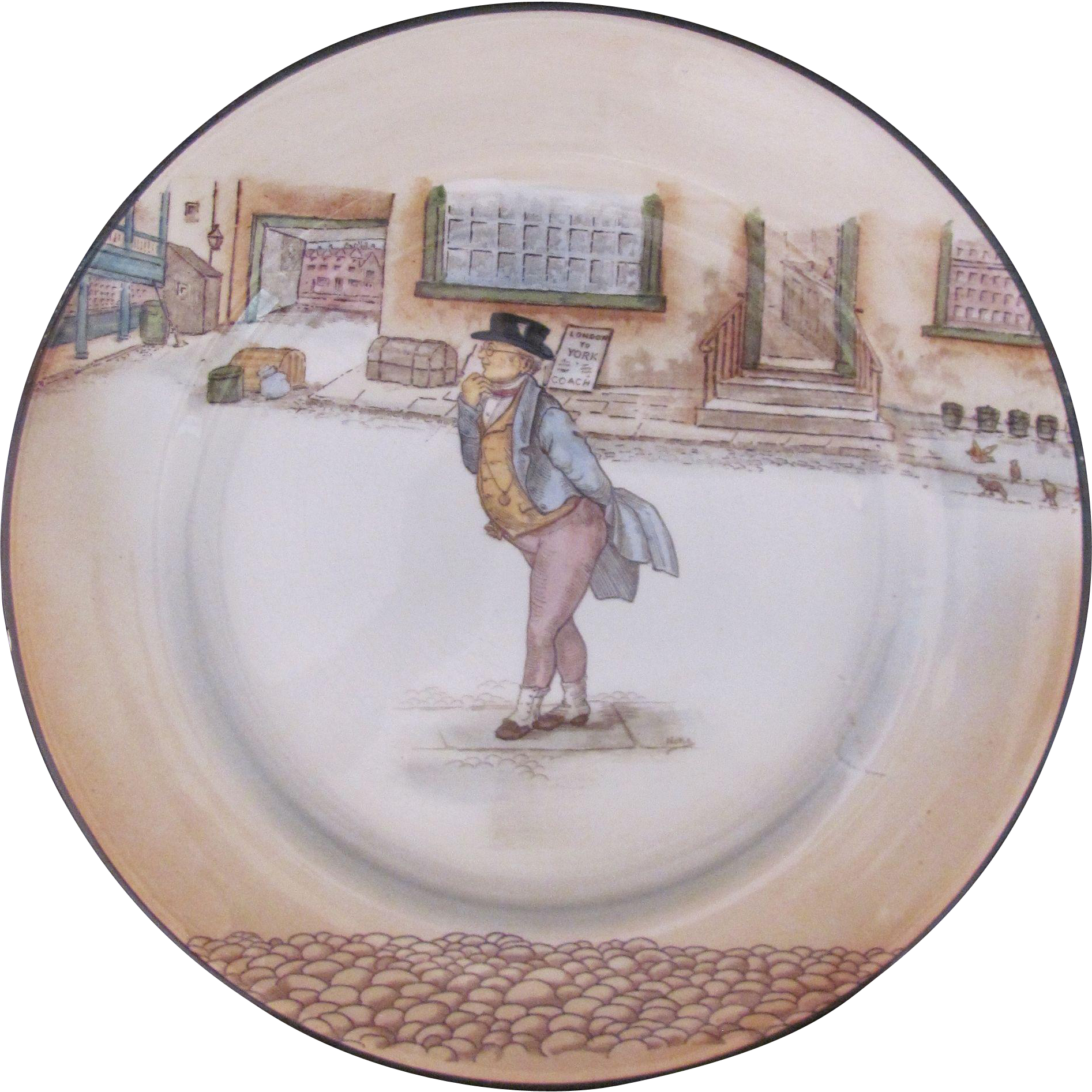 Antique Royal Doulton Dickens Ware Charger Dinner Plate Mr. Pickwick