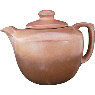 Frankoma Teapot Tea Pot Brown Satin 5TL Short Spout