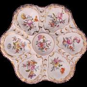 DRESDEN Antique Oyster Plate Franziska Hirsch c.1894-96