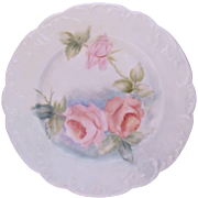 Limoges Haviland Rose Plate Hobbyist Hand Painted Signed Antique c.1888