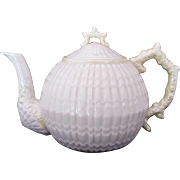 BELLEEK Limpet Teapot Cob Luster c.1965-81 Large 48 Ounces Third Green Mark
