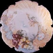 Antique Limoges T&V Plate Scalloped Edge Hand Painted Tressemann & Vogt c.1892
