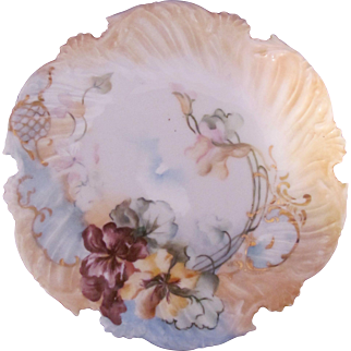 Antique Limoges T&V Plate Scalloped Edge Hand Painted Tressemann & Vogt c.1892